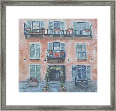 Windows And Shutters Framed Print