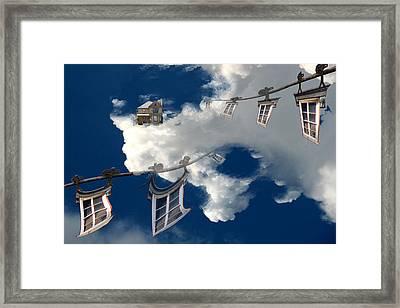 Windows And The Sky Framed Print