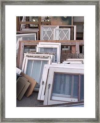 Windows Framed Print by Angela Christine