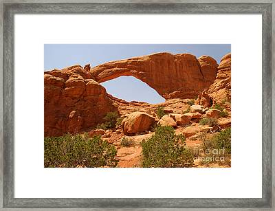 Windows At Arches National Park Framed Print