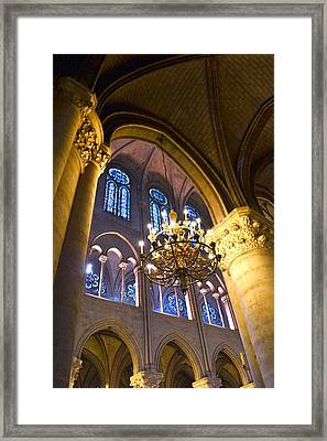 Windows At The Notre Dame Cathedral In Paris Framed Print by Kim Bemis