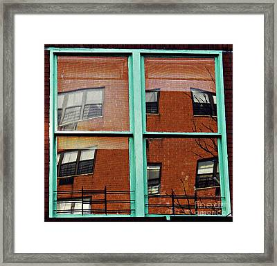Windows In The Heights Framed Print