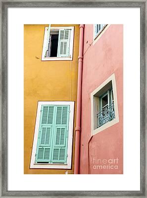Windows In Villefranche-sur-mer Framed Print