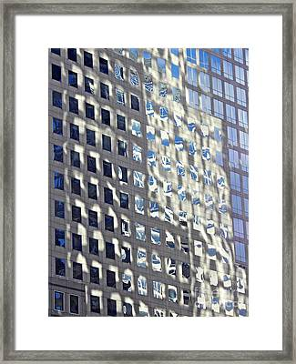 Framed Print featuring the photograph Windows Of 2 World Financial Center 2 by Sarah Loft
