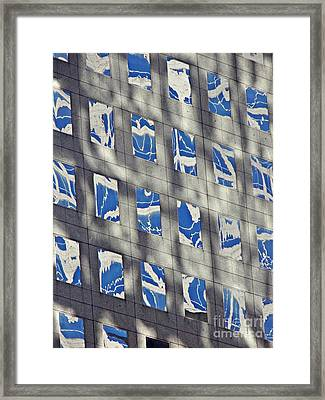 Framed Print featuring the photograph Windows Of 2 World Financial Center 3 by Sarah Loft