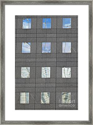 Framed Print featuring the photograph Windows Of 2 World Financial Center   by Sarah Loft