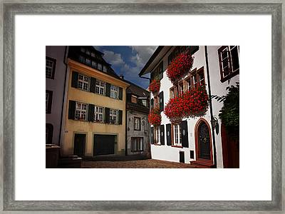 Windows Of Basel Switzerland  Framed Print by Carol Japp