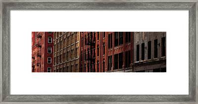 Windows Of New York Framed Print