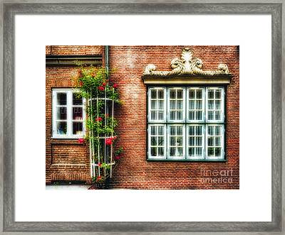 Windows Of Old Hamburg Framed Print