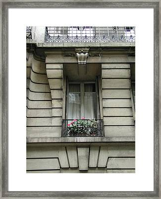 Framed Print featuring the photograph Windows Of Paris by Nancy Taylor