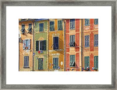 Windows Of Portofino Framed Print by Joana Kruse