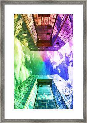 Windows Of Skyscraper Framed Print by Lanjee Chee