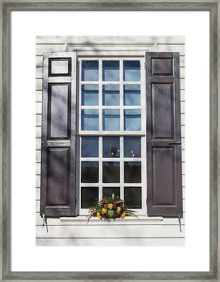 Windows Of Williamsburg 30 Framed Print by Teresa Mucha