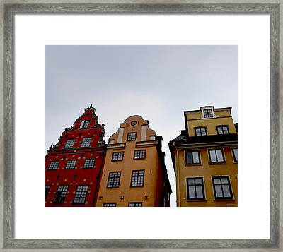 Windows On Gamla Stan Framed Print by Linda Woods