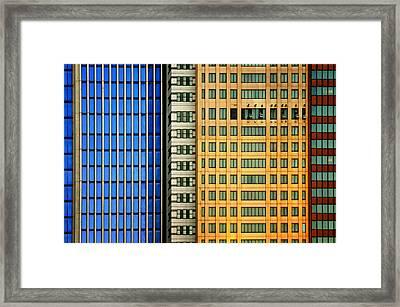 Windows On The City Framed Print by Mathilde Guillemot
