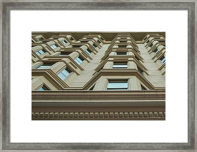 Framed Print featuring the photograph Windows To The World Atlanta Architecture Art by Reid Callaway