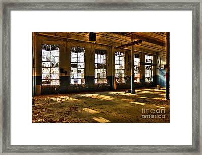 Windows Windows Mary Leila Cotton Mill 1899 Framed Print by Reid Callaway