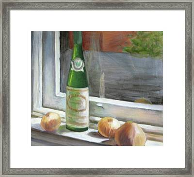 Windowsill Still Life Framed Print