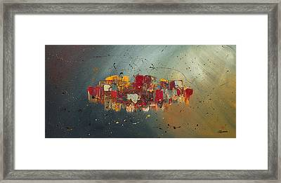 Framed Print featuring the painting Winds Of Prosperity by Carmen Guedez