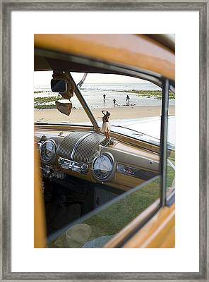 Windshield View Framed Print by Ron Regalado
