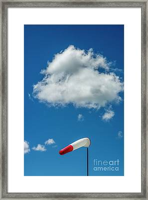 Windsock On A Pole Framed Print by Bernard Jaubert