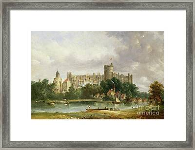 Windsor Castle - From The Thames Framed Print by Alfred Vickers