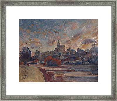 Windsor Castle Along The Thame Framed Print