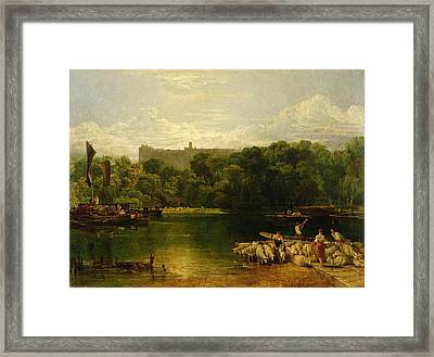Windsor Castle From The Thames Framed Print by Joseph Mallord William Turner