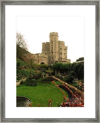 Windsor Castle In Winter Framed Print by Amanda Barcon