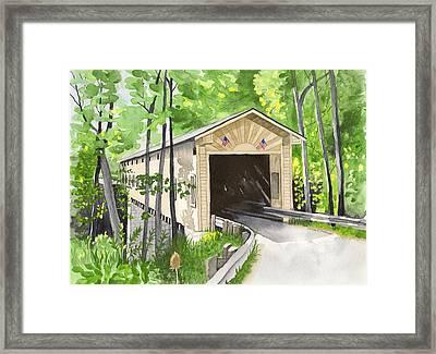 Windsor Mills Bridge Framed Print