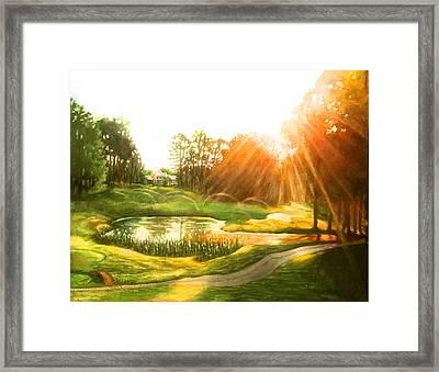 Windstone 13th Green Framed Print by Janet McGrath