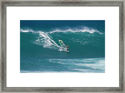 Windsurfer At Hookipa, Maui Framed Print