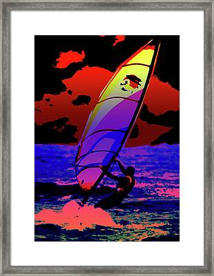 Windsurfer Framed Print by Brian Roscorla