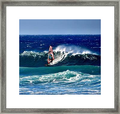 Windsurfer Framed Print