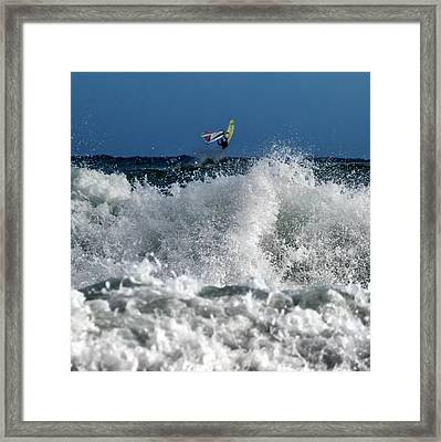 Windsurfer Framed Print by Stelios Kleanthous
