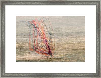 Windsurfers Framed Print by Denis Bouchard