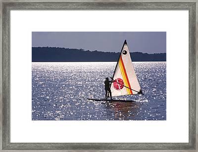Windsurfing Lake Champlain Framed Print
