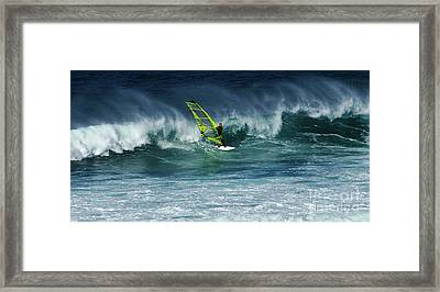 Windsurfing Maui Hawaii 2 Framed Print by Bob Christopher