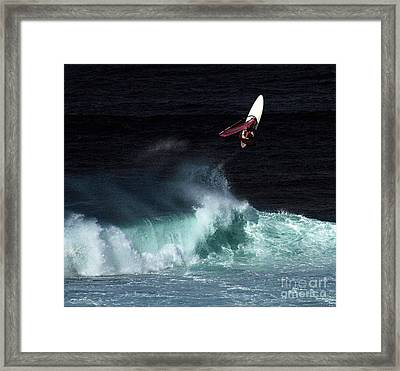 Windsurfing Maui Hawaii Framed Print by Bob Christopher