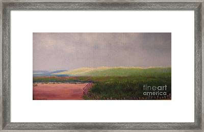 Windswept Dunes Framed Print by Laura Roberts