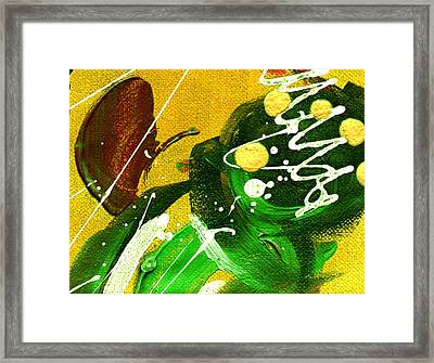 Framed Print featuring the painting Windswept II by Angela L Walker