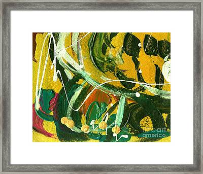 Framed Print featuring the painting Windswept Iv by Angela L Walker