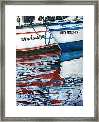 Framed Print featuring the painting Windswept Reflections Sold by Lil Taylor