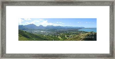 Windward Oahu Panorama I Framed Print by David Cornwell/First Light Pictures, Inc - Printscapes