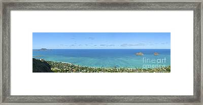 Windward Oahu Panorama II Framed Print by David Cornwell/First Light Pictures, Inc - Printscapes