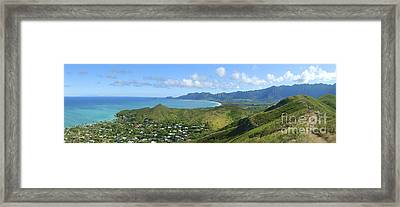 Windward Oahu Panorama IIi Framed Print by David Cornwell/First Light Pictures, Inc - Printscapes
