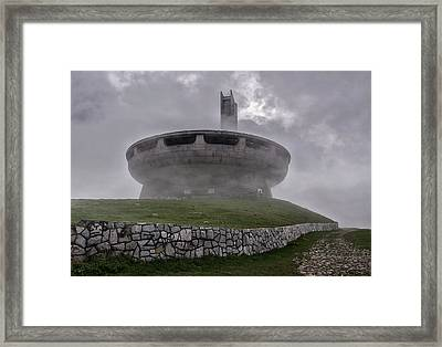Windy And Cloudy Day At Buzludzha Framed Print