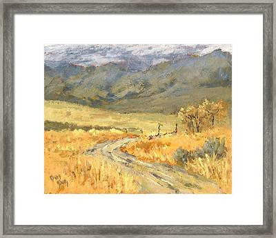 Windy Autumn Framed Print