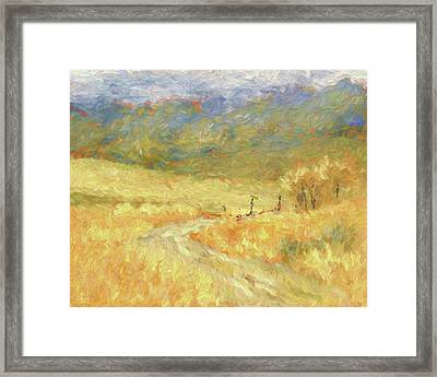 Windy Autumn Dop Framed Print