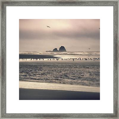 Framed Print featuring the photograph Windy Balmy Day At The Beach by Tikvah's Hope